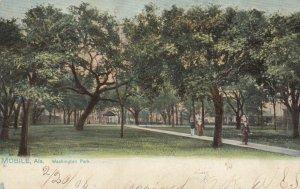 MOBILE , Alabama , 1908 ; Washington Park , TUCK