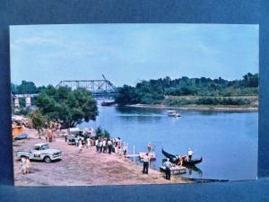 Postcard IN Clinton The Little Italy Festival Gondola on Wabash River