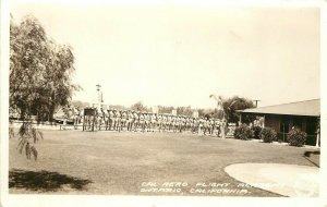 RPPC Postcard Cal Aero Flight Academy Ontario CA Frashers Soldiers at Attention