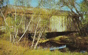 This Old Covered Bridge Still Serves The Public Crossing Other Brook Near Eas...