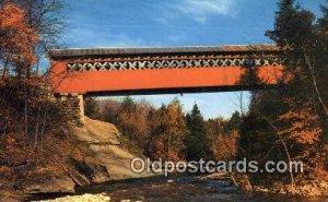 Chiselville Bridge, VT USA Covered Bridge Unused
