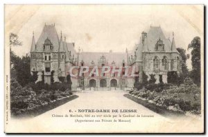 Old Postcard Notre Dame De Liesse Chateau de Marchais