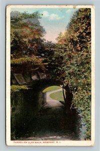 Newport RI, Tunnel On Cliff Walk, Vintage Rhode Island Postcard