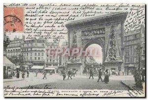 Old Postcard Paris Boulevard St Denis door