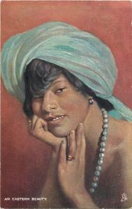 An Eastern beauty  Dusky Belles  Raphael Tuck postcard
