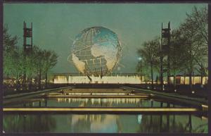 Unisphere at Night,New York World's Fair Postcard