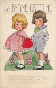 Valentine Greetings - I might not be Yours but You are Mine pm 1923 Whitney Made