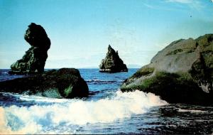 Iceland Eroded Volcanic Rocks On The Shores Of Westmann Islands
