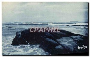 Old Postcard The D & # 39Olonne Sables The Black Rocks