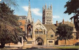 Vintage 1977 Postcard GLOUCESTER West Gate and Hooper Monument