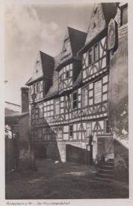 Rudesheim am Rhein Klunkhardshof  Vintage Real Photo German Postcard