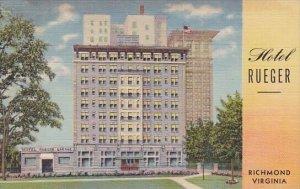 Hotel Ruger Richmond Virginia 1950