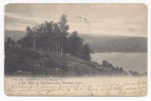 CT Winsted Highland Lake Vintage 1907 Rotograph UDB Postcard