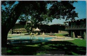 Monterey, California Postcard Mark Thomas' INN at Del Monte Pool View c1960s
