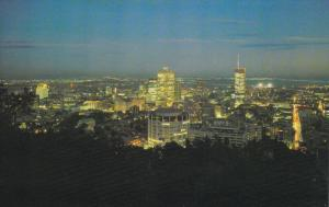 Night View , MONTREAL , Quebec , Canada , 50-60s