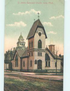 Unused Divided-Back CHURCH SCENE Ionia Michigan MI L4997