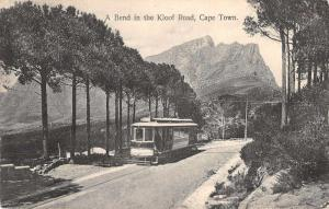 Cape Town South Africa Kloof Road Trolley Antique Postcard J46947