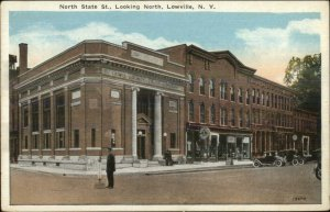 Lowville NY North State St. Looking North c1920s Postcard