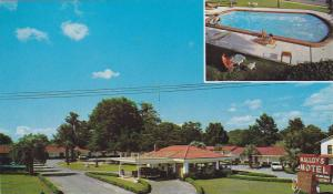 2-Views, Malloy's Motel, On U.S. 90 West, Swimming Pool, Marianna, Florida, 1...