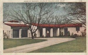 TOLUCA LAKE, California, 1910-20s; Home of Richard Arlen
