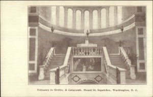 Washington DC Grotto Catacomb Mount St. Sepulchre Private Mailing Card