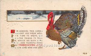 Thanksgiving Old Vintage Antique Postcard Post Card Unused