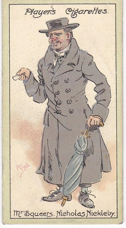 Cigarette Cards Players Characters From Dickens No 44 Mr. Squeers