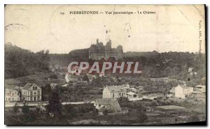 Old Postcard Pierrefonds Chateau Panoramic view