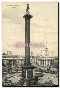 Old Postcard London Trafalgar Square