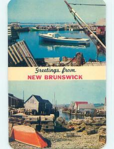 Unused Pre-1980 GREETINGS FROM - FISHING SCENE Province of NB p9027
