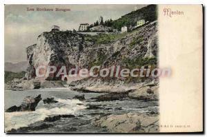 Postcard Old Red Rocks Menton