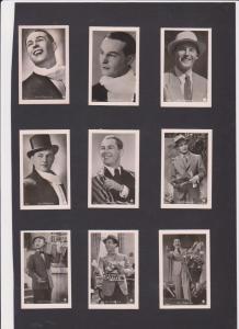 FILM CINÉMA MOVIE 100 Vintage ROSS Real Photo CIGARETTE Cards 1930's