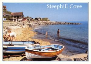 Isle of Wight Postcard, Steephill Cove, Beach, Ventnor by J. Arthur Dixon Q9