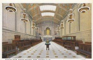 POTTSVILLE , Pennsylvania , 1910s ; Miners National Bank , Banking Room