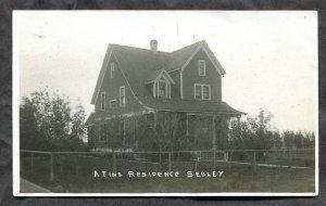 4937 - SEDLEY Sask 1910s A Fine Residence. House. Real Photo Postcard