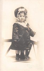 Seattle WA~Mezzon Studio~Darling Little Helen Wishes Merry Christmas~1910 RPPC