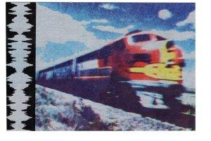 Railway Train Iron Horse Artist Nonny Mouse Writer Allen Ginsbery 1973 Long Poem