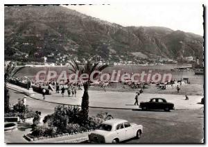 Old Postcard Menton Garavan M Beach At bottom and the Border