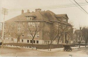 RP: YORK , Nebraska , 1909 ; High School