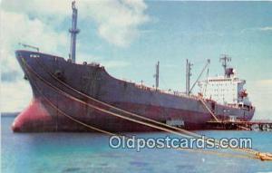 MS Conestoga Mobil Tanker, Port of Guam Ship Postcard Post Card Mobil Tanker,...