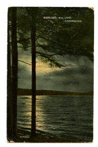 NY - Adirondacks, Fourth Lake in Moonlight