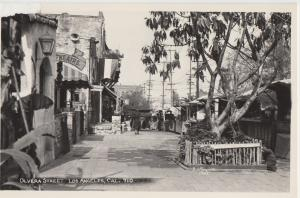California Ca RPPC Postcard 1950s LOS ANGELES Olivera Street THEATRE