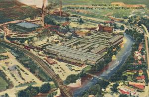 West Virginia Pulp and Paper Company Covington WV West Virginia pm 1956 - Linen