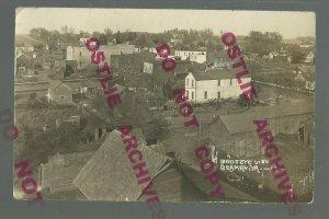 Beaman IOWA RPPC c1910 MAIN STREET Birdseye nr Marshalltown Grundy Center Conrad