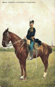 Military postcard Majoor Bataljon's commandant Groote tenue 02.14