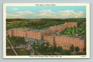 Pluto Water French Lick Springs Hotel Resort Aerial View Ind Indiana Postcard