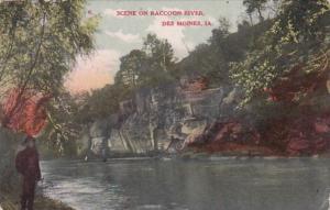 Iowa Des Moines Scene On Raccoon River 1908