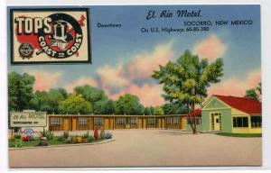 El Rio Motel US 60 85 Socorro New Mexico postcard