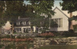 Barnard VT Sinclair Lewis Summer Home Hand Colored Postcard
