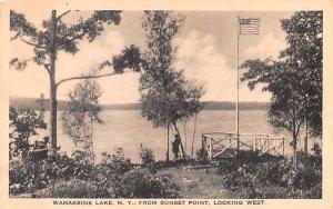 Wanaksink Lake Rock Hill, New York Postcard